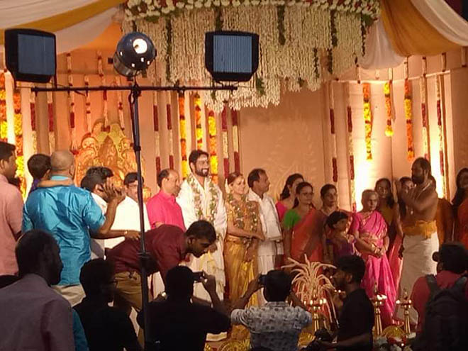 Actress Bhavana And Naveen Marriage Photos