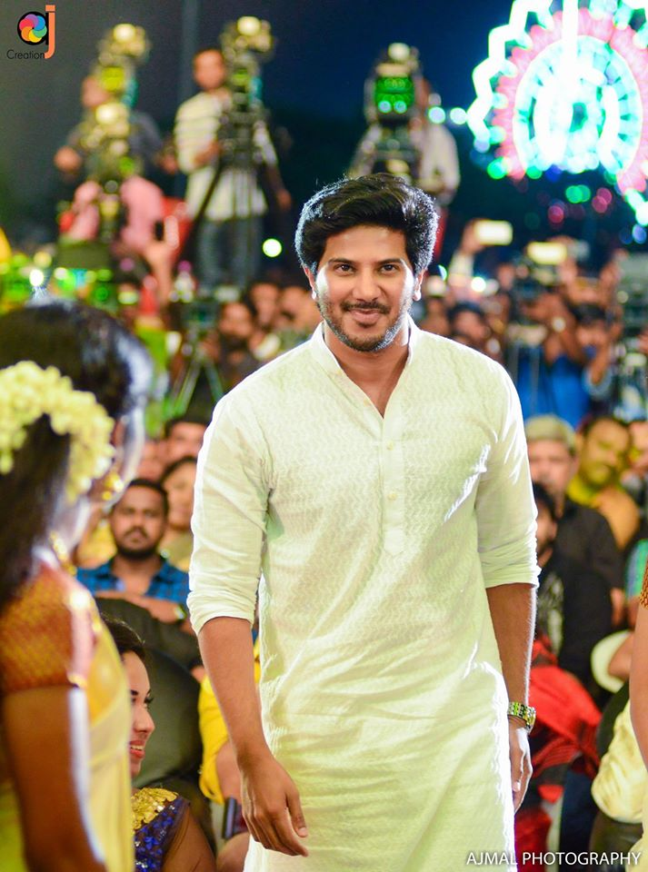 Dulquer receiving the Kerala State Film award from Chief Minister Pinarayi Vijayan
