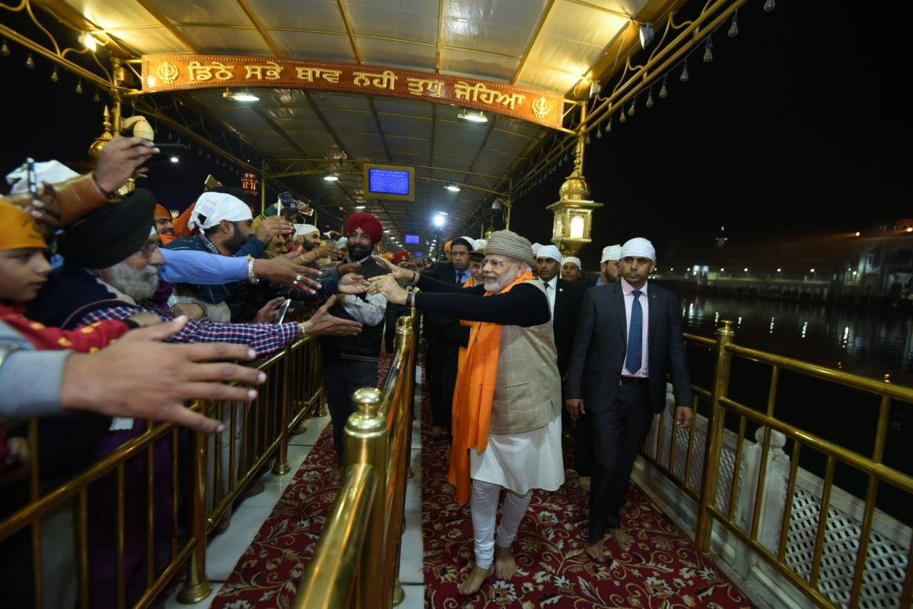 PM Modi in Golden temple