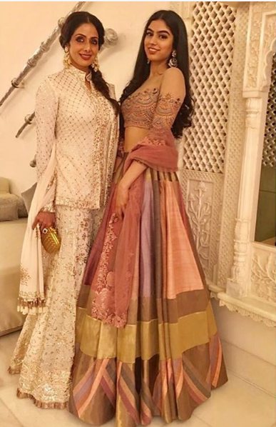Sridevi with daugther Khushi at a Diwali party